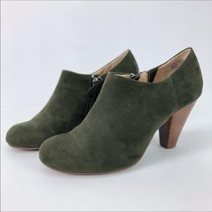 Crown Vintage Hunter Green Heeled Booties